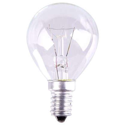 Лампа накаливания шар E14 25 Вт свет теплый белый цена