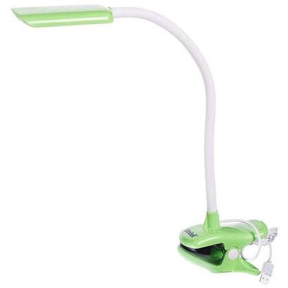 Лампа настольная на прищепке светодиодная TLD-554  цвет зеленый