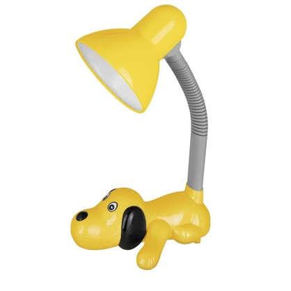 Лампа настольная Собачка E27 40 Вт цвет желтый цена
