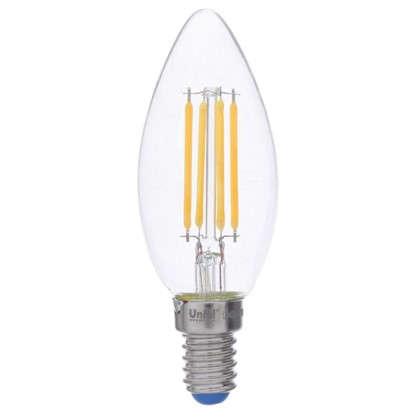 Светодиодная лампа филаментная Airdim форма свеча E14 5 Вт 500 Лм свет теплый цена