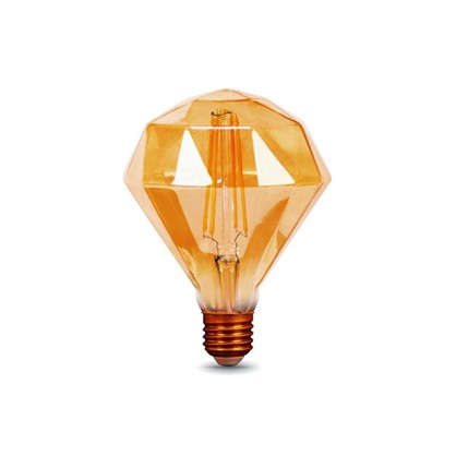 Лампа светодиодная Gauss Filament Diamond E27 5 Вт 450 Лм свет теплый белый цена