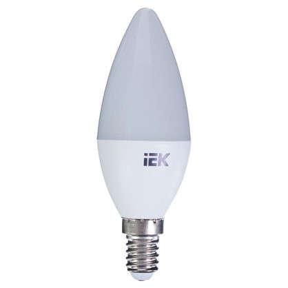 Светодиодная лампа IEK C35 Свеча E14 7 Вт 3000К свет теплый белый цена