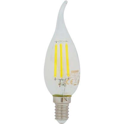 Светодиодная лампа Osram E14 220 В 5 Вт свеча на ветру 3 м² свет теплый белый
