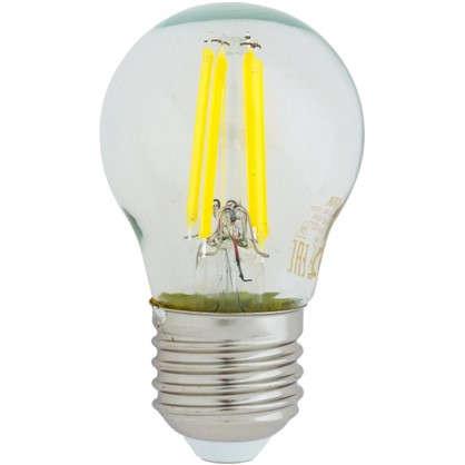 Светодиодная лампа Osram E27 220 В 5 Вт шар 3 м² свет теплый белый цена
