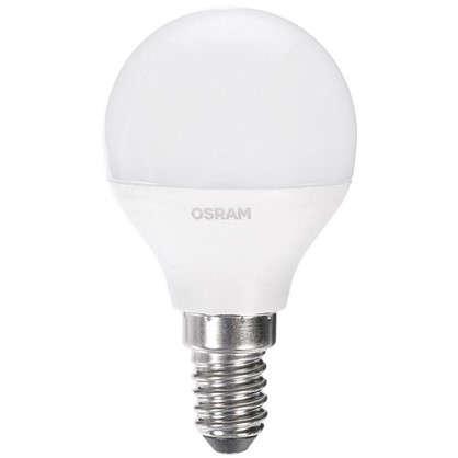 Светодиодная лампа Osram Шар E14 6.5 Вт 550 Лм свет холодный белый цена