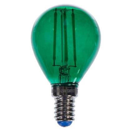 Светодиодная лампа Uniel Color шар E14 5 Вт свет зеленый