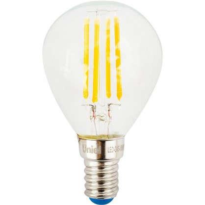 Светодиодная лампа Uniel шар E14 6 Вт 500 Лм свет холодный цена