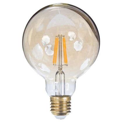 Лампа светодиодная Uniel Vintage шар E27 6 Вт 510 Лм свет теплый белый цена