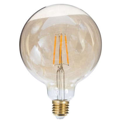 Лампа светодиодная Uniel Vintage шар E27 8 Вт 680 Лм свет теплый белый цена
