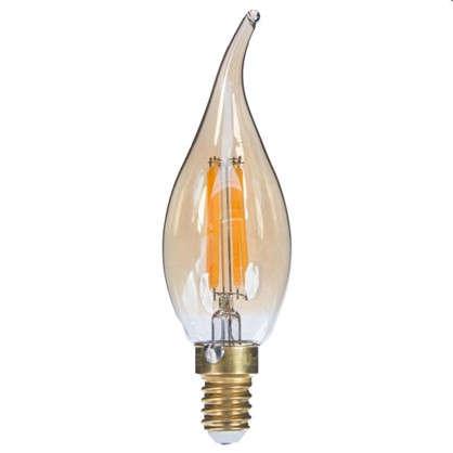Лампа светодиодная Uniel Vintage свеча на ветру E14 5 Вт 420 Лм цвет золотистый