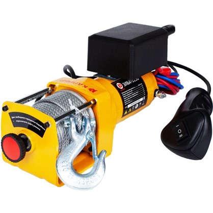 Лебедка электрическая Калибр ЭЛБА-1130 грузоподъемность до 1130 кг