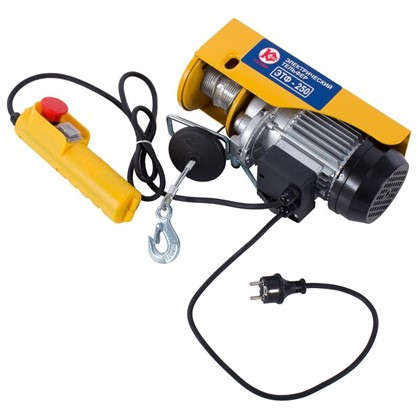 Лебедка электрическая Калибр ЭТФ-250 грузоподъемность до 250 кг цена