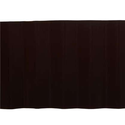 Лента бордюрная декоративная Гофра высота 20 см цвет  коричневый цена