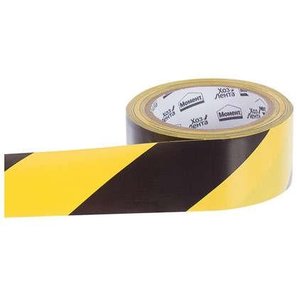 Лента хозяйственная разметочная Момент 50 мм 25 м цвет желто-черный цена