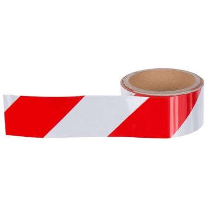 Лента хозяйственная светоотражающая Момент 48 мм 5 м цвет красно-белый цена