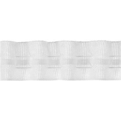 Шторная лента 25 мм цвет матовый белый цена