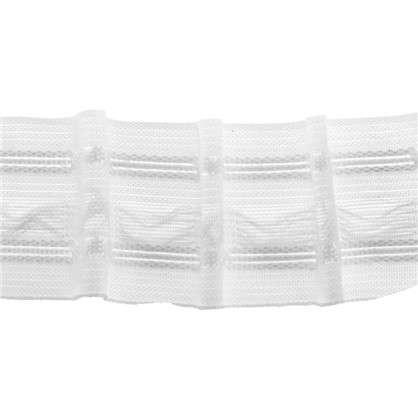 Шторная лента матовая параллельная 29 мм цвет белый цена