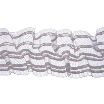 Шторная лента вафельная прозрачная 60 мм цвет белый цена