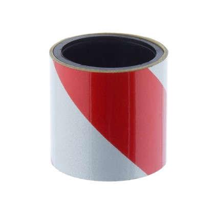 Лента светоотражающая самоклеящаяся 100х5 см цвет красно-белый цена