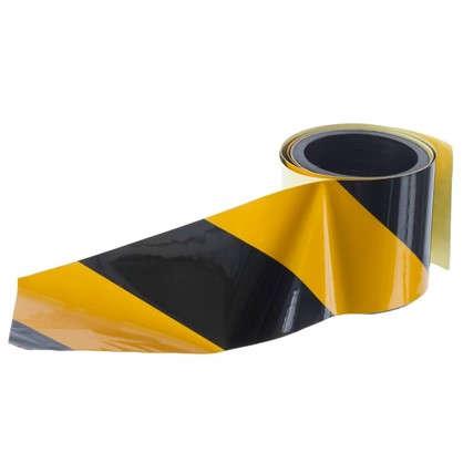 Лента светоотражающая самоклеящаяся 100х5 см цвет желто-черный цена
