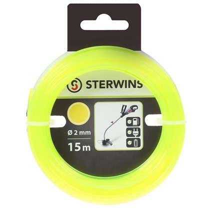 Леска для триммера Sterwins 2 мм х 15 м круглая цвет жёлтый
