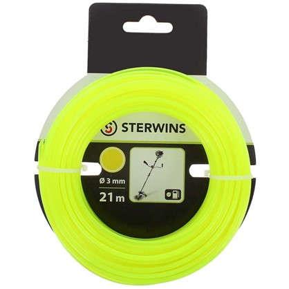 Леска для триммера Sterwins 3 мм х 21 м круглая цвет жёлтый