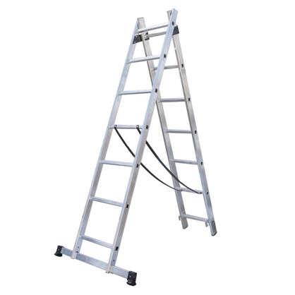 Лестница раскладная двухсекционная Standers 7 ступеней цена