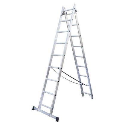 Лестница раскладная двухсекционная Standers 9 ступеней цена