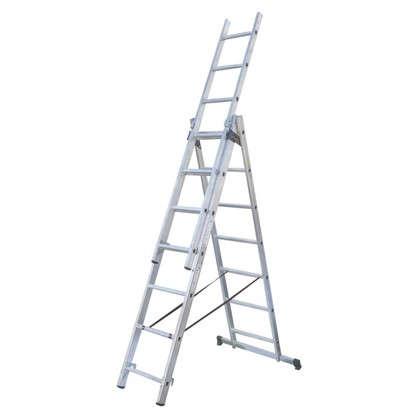 Лестница раскладная трёхсекционная Standers 9 ступеней цена