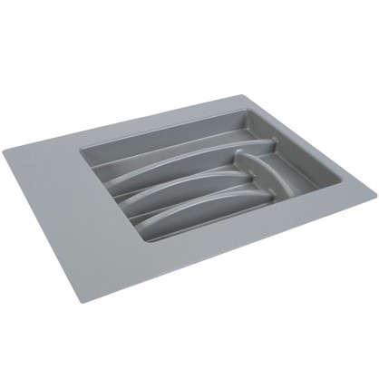 Лоток для столовых приборов 400-450 мм пластик цвет серый цена