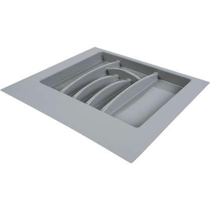 Лоток для столовых приборов 600 мм пластик цвет серый цена