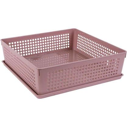 Лоток с крышкой 310х310х90 мм 7.3 л полипропилен цвет розовый цена