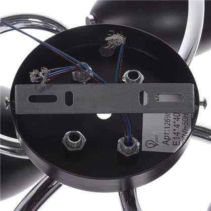 Люстра Klumi 1269/4C E14X3X40 Вт цвет черный