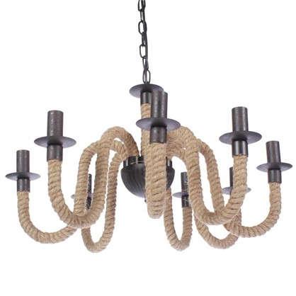 Люстра подвесная Корда 8 ламп 24 м² цвет коричневый