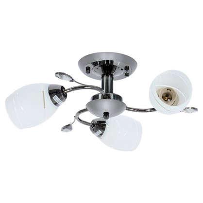 Люстра Spiral 3хЕ27х60 Вт металл/стекло цвет белый/черный цена