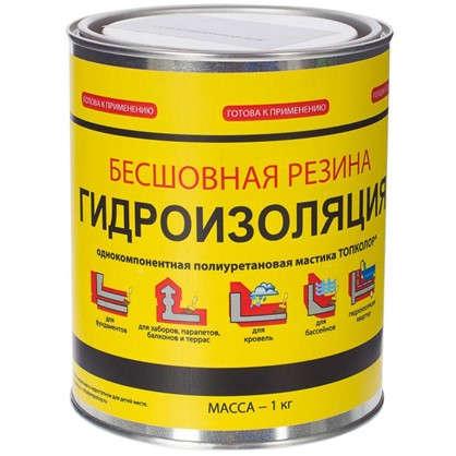 Мастика гидроизоляционная Топколор 1 л цвет серый