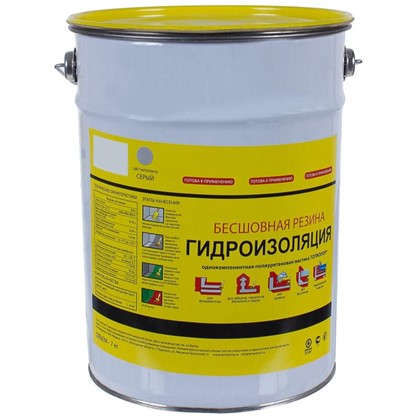 Мастика гидроизоляционная Топколор 7 л цвет серый цена