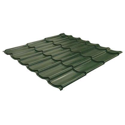 Металлочерепица 116х117м с полиэстеровым покрытием 04 мм цвет зеленый цена