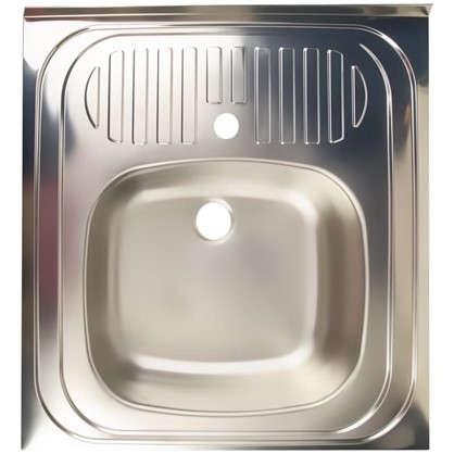 Мойка накладная Eurodomo 60x60 см цвет матовый хром нержавеющая сталь цена