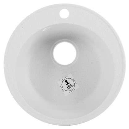 Мойка врезная Эко-М М-08 D48 см кварц цвет белый цена