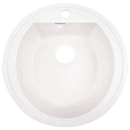 Мойка врезная Granfest Rondo GF-R 50 см цвет белый мрамор цена
