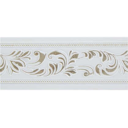 Молдинг настенный 156-60 интерьерный 200х5 см цвет белый