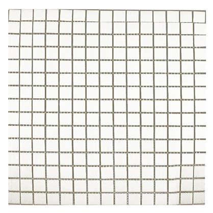 Мозаика 32.7х32.7 см стекломасса цвет белый