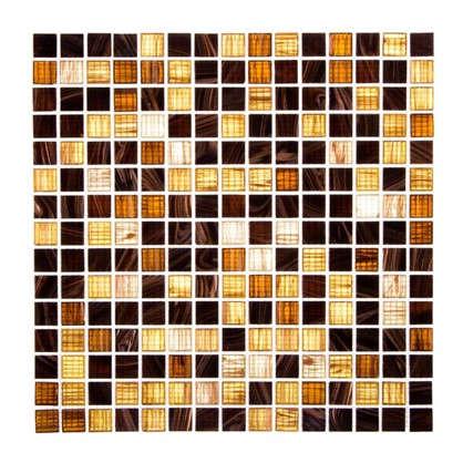 Мозаика 32.7х32.7 см стекломасса цвет коричневый цена