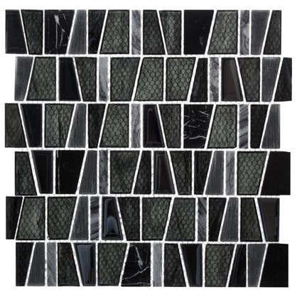 Мозаика Artens 30х30 см стекло чёрный цена