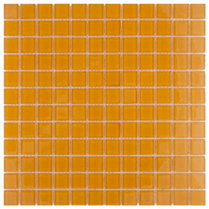 Мозаика Artens 30х30 см стекло цвет оранжевый цена