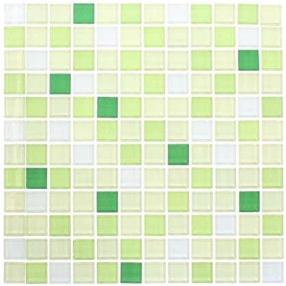 Мозаика Artens Shaker 30х30 см стекло цвет зелёный