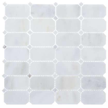 Мозаика Artens White 30х30 см мрамор цвет белый