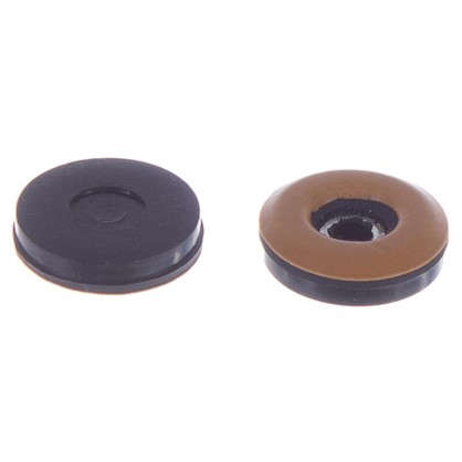 Набойки Standers PTFE 25 мм круглые пластик цвет коричневый 4 шт. цена