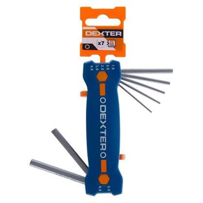 Набор ключей Dexter шестигранник Hех 1.5-6 мм 7 шт. цена